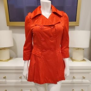Bebe satin red trench